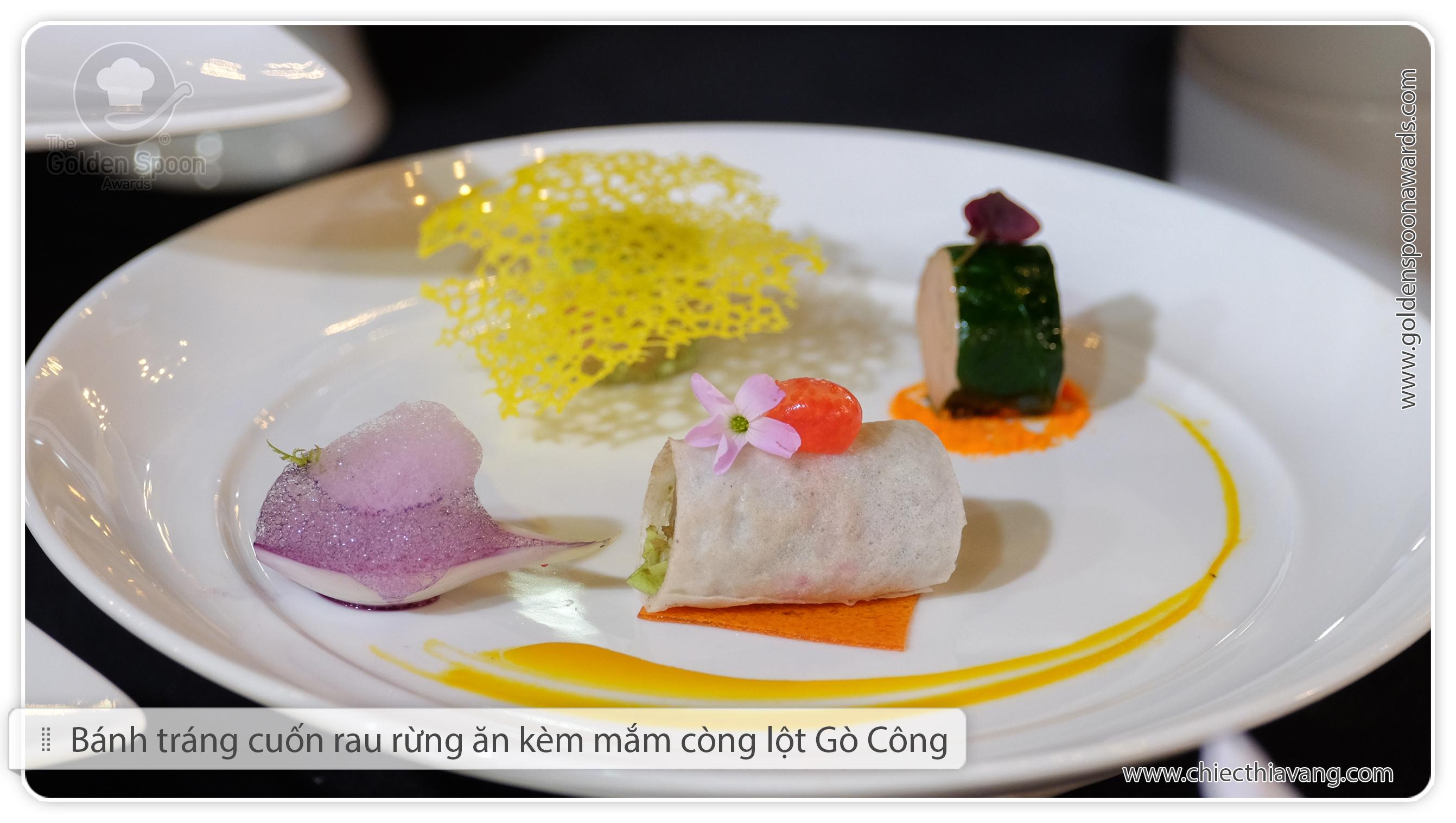 Nghệ thuật trang trí trên món ăn của các đầu bếp Khu Du lịch Bình Quới 1 (vòng bán kết phía Nam cuộc thi Chiếc Thìa Vàng 2015)