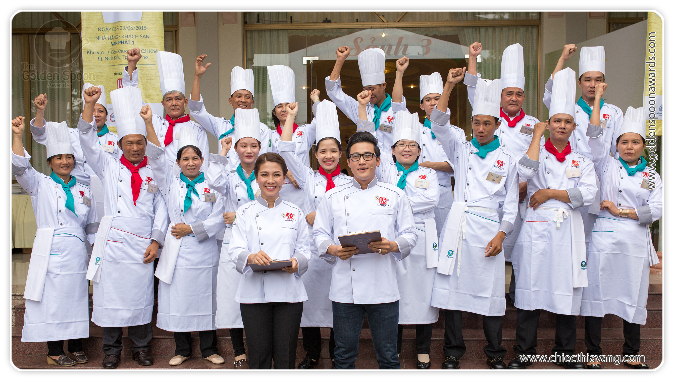Exciting times at the 2015 Golden Spoon contest, Mekong Delta