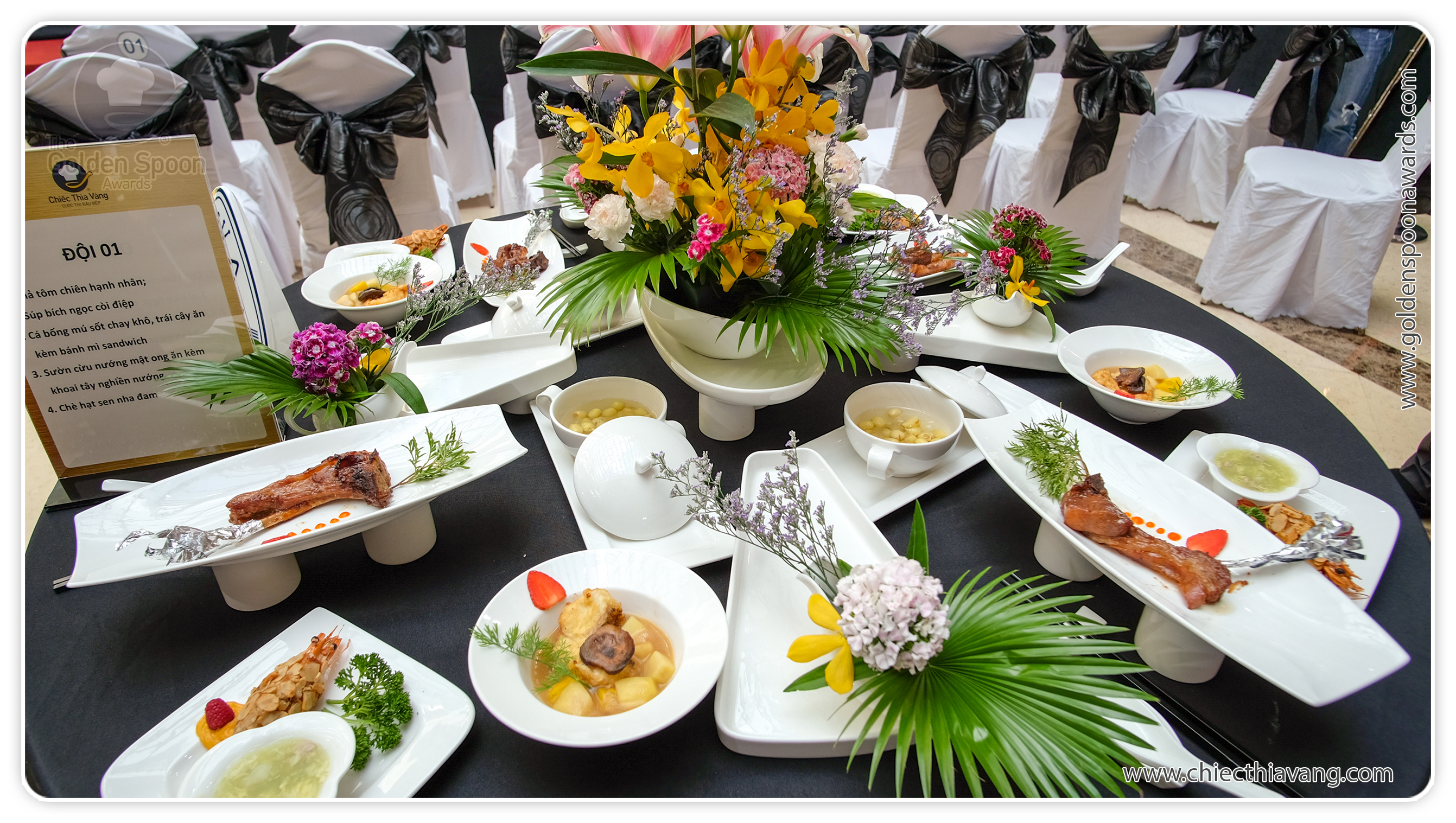 One of tables entered at the 2015 Golden Spoon Contest was inspired by the countryside of the Southwest region