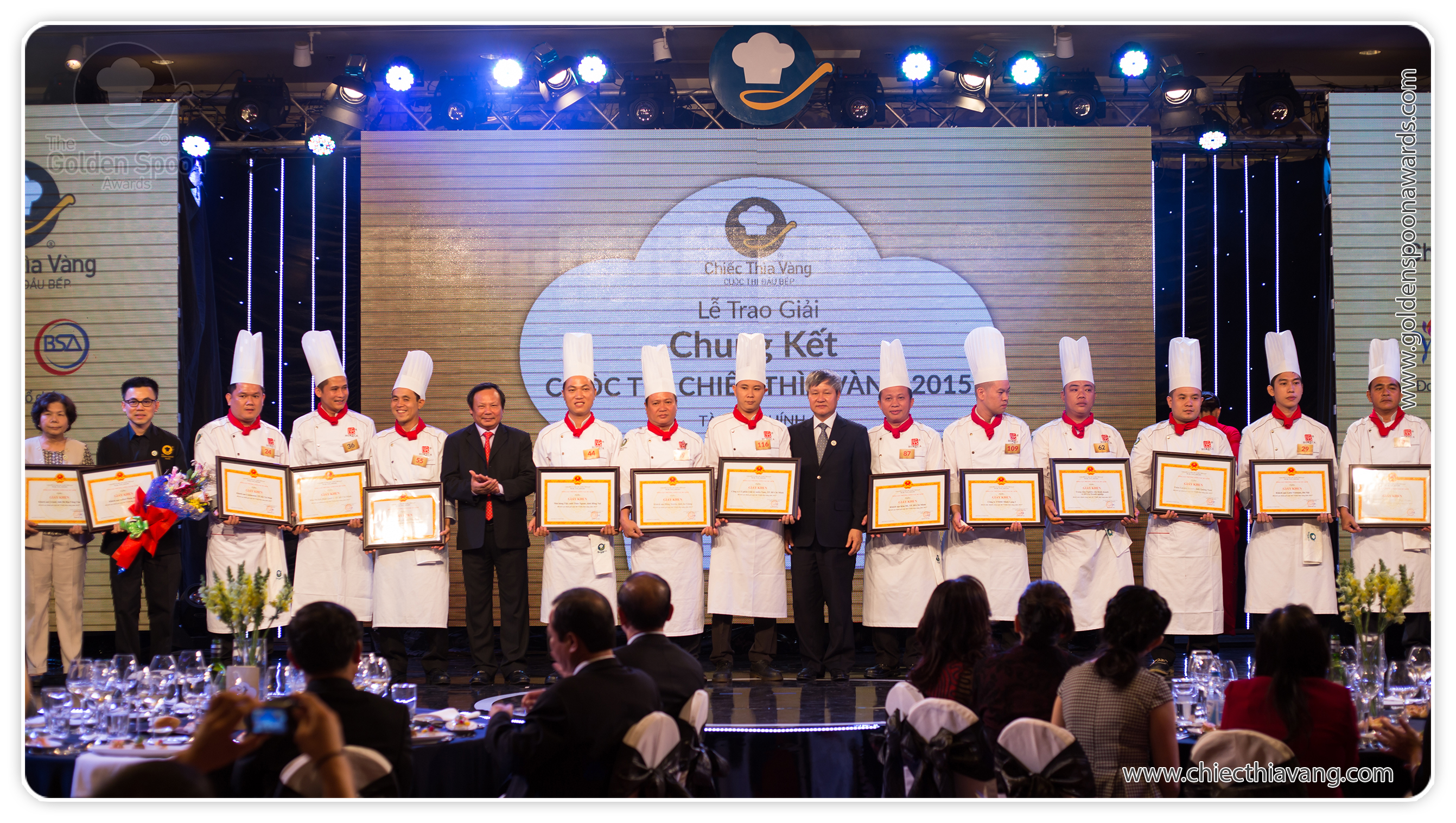 Awards ceremony of the 2015 Golden Spoon contest